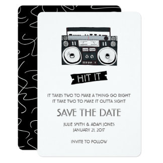 Boom Box Wedding - Save the Date Card