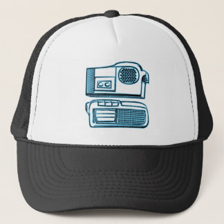 Boom Boxes Old School Technology Trucker Hat