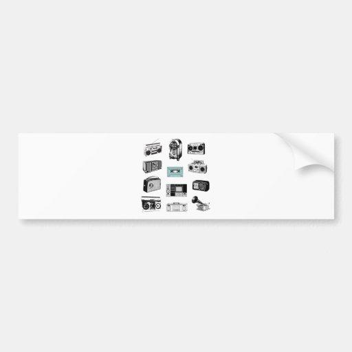 Boom Boxes & Retro Radios Bumper Sticker