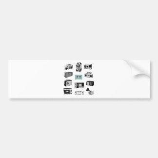 Boom Boxes & Retro Radios Car Bumper Sticker