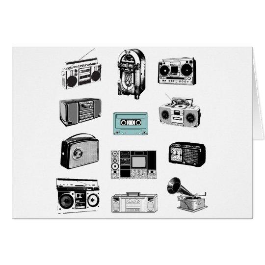 Boom Boxes & Retro Radios Card