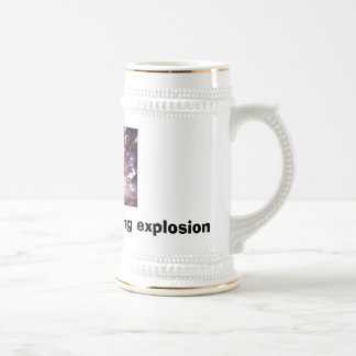 boom, Caffiene: My morning explosion Beer Stein