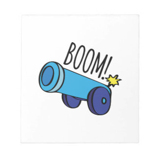 Boom Cannon Memo Notepads
