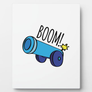 Boom Cannon Display Plaques