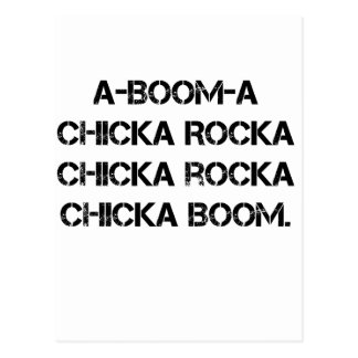 BOOM CHICK A BOOM Girl Scout Grunge Campfire Song Postcard