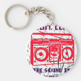 Boom, clap - the sound in my heart keychain