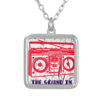 Boom, clap - the sound in my heart silver plated necklace