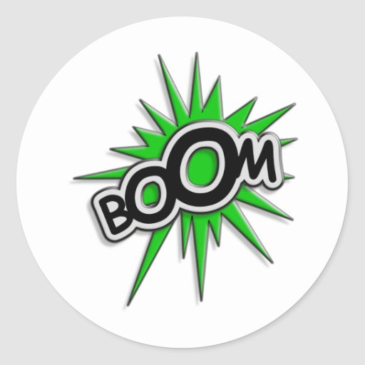 Boom Classic Round Sticker