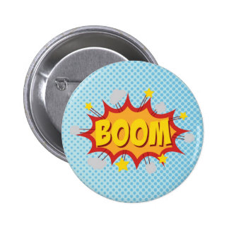 BOOM comic book sound effect Button
