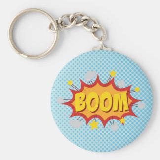BOOM comic book sound effect Keychains