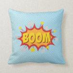 BOOM comic book sound effect Pillows