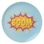 BOOM comic book sound effect Plate