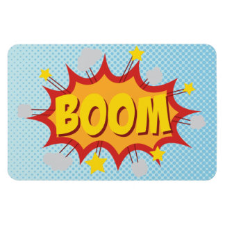 BOOM comic book sound effect Rectangular Photo Magnet