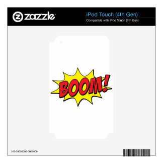Boom Comic iPod Touch 4G Decals