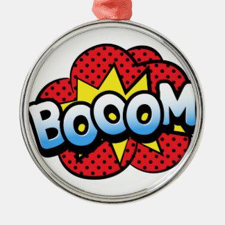 Boom dynamite metal ornament