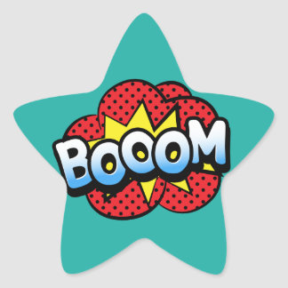 Boom dynamite star sticker