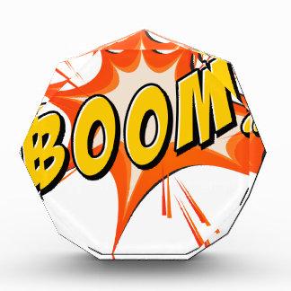 Boom flash on white award