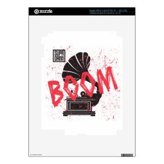 Boom Gramophone White iPad 3 Decal