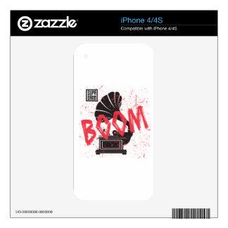Boom Gramophone White iPhone 4 Skins