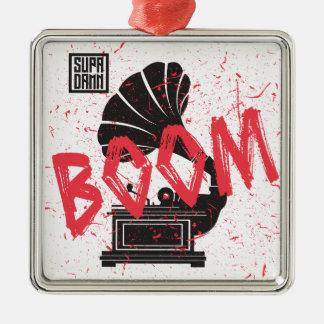Boom Gramophone White Metal Ornament