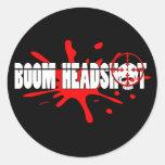 Boom   Headshot Classic Round Sticker