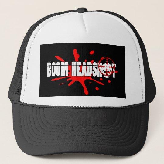 Boom   Headshot Trucker Hat