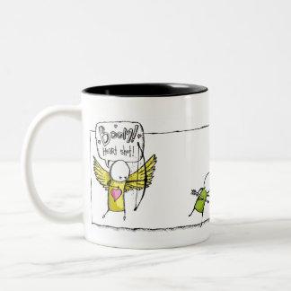 BOOM! Heart shot. Two-Tone Coffee Mug