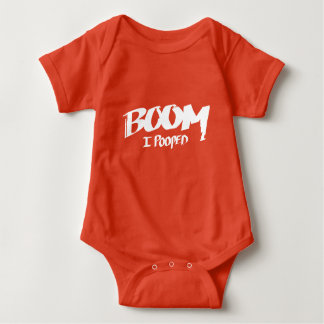 Boom, I Pooped – Baby Body Suit Baby Bodysuit