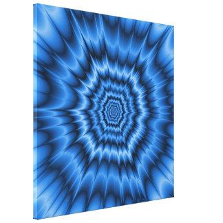 Boom! in Blue Canvas Print