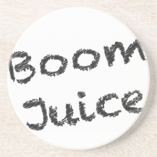 Boom Juice - Black and Grey Writing Sandstone Coaster