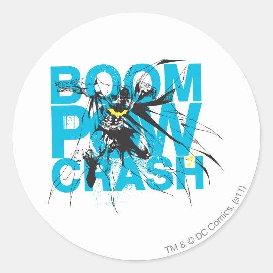 Boom Pow Crash Classic Round Sticker