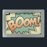 """boom rectangular belt buckle<br><div class=""""desc"""">Boom!</div>"""