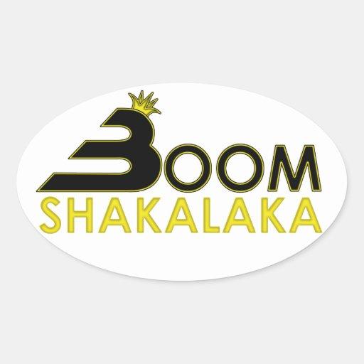 Boom Shakalaka Oval Sticker