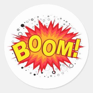 Boom! Classic Round Sticker