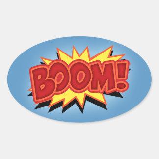Boom! Oval Sticker