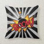 Boom Superhero Bombs Comic Book Pillow