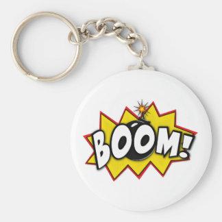 Boom Superhero Comic Action Words Keychain