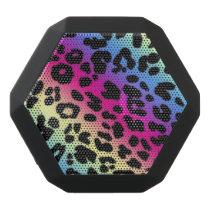 Boombot REX/Rainbow Leopard Print Black Bluetooth Speaker