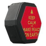[Xmas tree] keep calm and make peace on earth  Boombot REX Speaker Black Boombot Rex Bluetooth Speaker