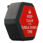 [Crown] keep calm it's bunga bunga time  Boombot REX Speaker Black Boombot Rex Bluetooth Speaker
