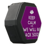 [Two hearts] keep calm and we will be back soon  Boombot REX Speaker Black Boombot Rex Bluetooth Speaker