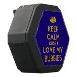 [Two hearts] keep calm cuse i love my bubbies  Boombot REX Speaker Black Boombot Rex Bluetooth Speaker