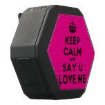 [Crown] keep calm and say u love me  Boombot REX Speaker Black Boombot Rex Bluetooth Speaker