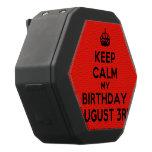 [Crown] keep calm my birthday august 3rd  Boombot REX Speaker Black Boombot Rex Bluetooth Speaker