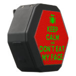 [Cutlery and plate] keep calm and don't eat my face  Boombot REX Speaker Black Boombot Rex Bluetooth Speaker