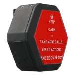 [Crown] keep calm and take more calls, less e actions and be on ready  Boombot REX Speaker Black Boombot Rex Bluetooth Speaker