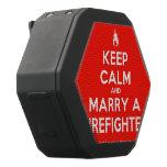[Campfire] keep calm and marry a firefighter  Boombot REX Speaker Black Boombot Rex Bluetooth Speaker