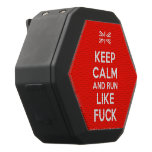[UK Flag] keep calm and run like fuck  Boombot REX Speaker Black Boombot Rex Bluetooth Speaker