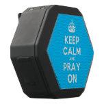 [Crown] keep calm and pray on  Boombot REX Speaker Black Boombot Rex Bluetooth Speaker