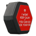 [Crown upside down] i wont keep calm and you can go fuck your self  Boombot REX Speaker Black Boombot Rex Bluetooth Speaker